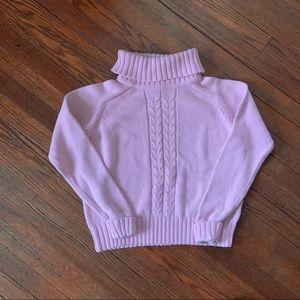 Calvin Klein Jeans Pink Cotton Turtleneck Sweatet